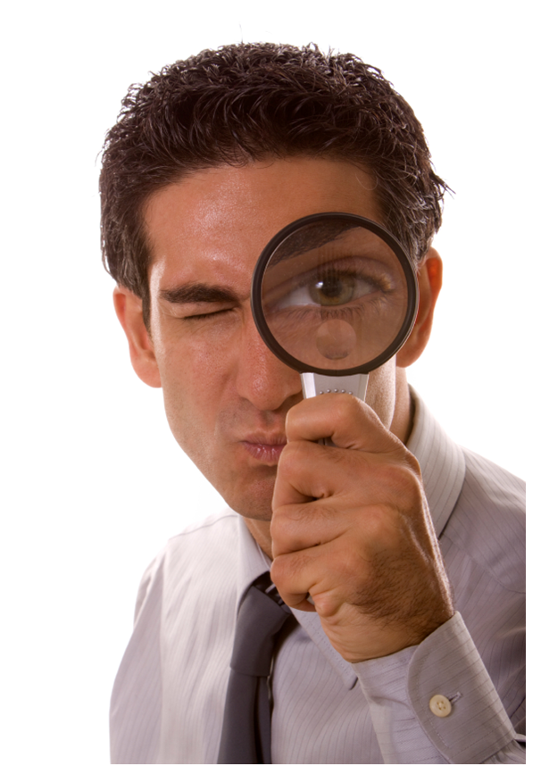 Image result for magnifying glass examine self