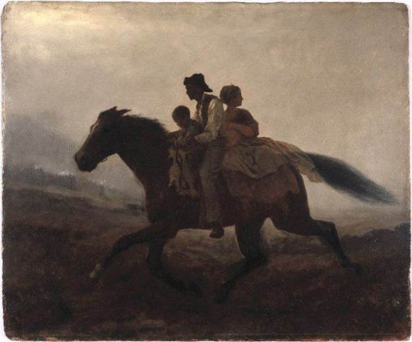 A Ride For Liberty - The Fugitive Slaves - Eastman Johnson (circa 1864) PD