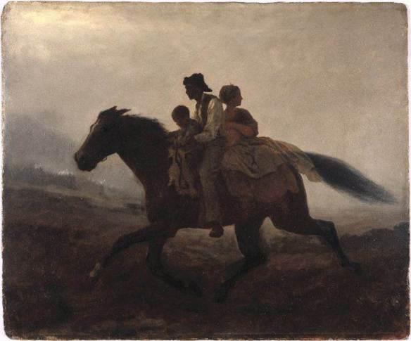 A Ride For Liberty - The Fugitive Slaves - Eastman Johnson (circa 1864) PD
