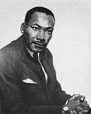 Portrait of Dr. Martin Luther King, Jr. By Betsy G. Reyneau; Donated Collections; Record Group 200; National Archives and Records Administration