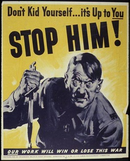 Hitler Poster - 1942-43  Office for Emergency Management. War Production Board
