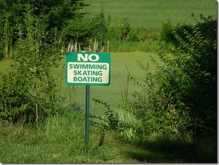 No Swimming, Skating, Boating closer