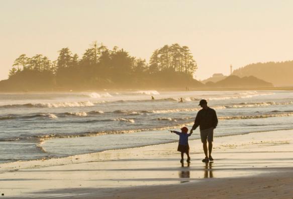 father-daughter-beach-walk