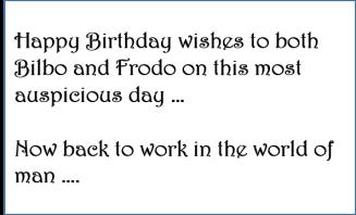 Happy Birthday Hobbits