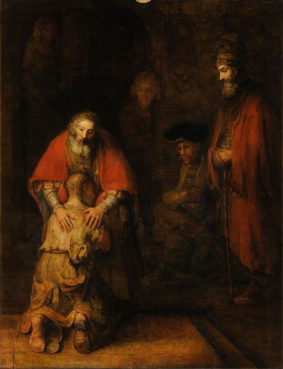 Motivation Mondays: Forgiveness - The Return of the Prodigal Son by Rembrandt (1668) at Hermitage Museum