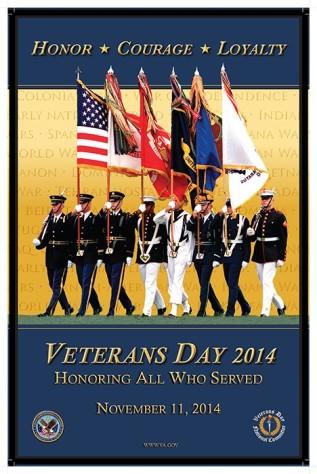 Veteran's Day 2014 poster