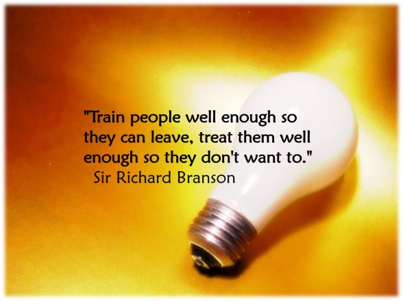 Branson Quote - Train and Leave - Morguefile