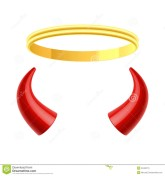 Halo and Horns - Dreamstime.com