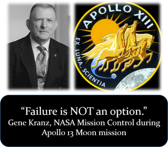 Failure - Gene Kranz quote - Wikipedia Public Domain