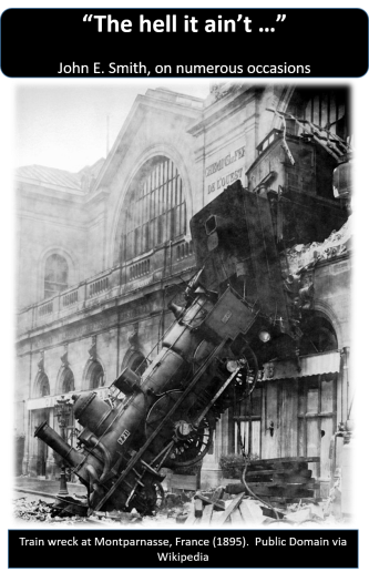 Failure - Train Wreck - Public Domain via WIkipedia