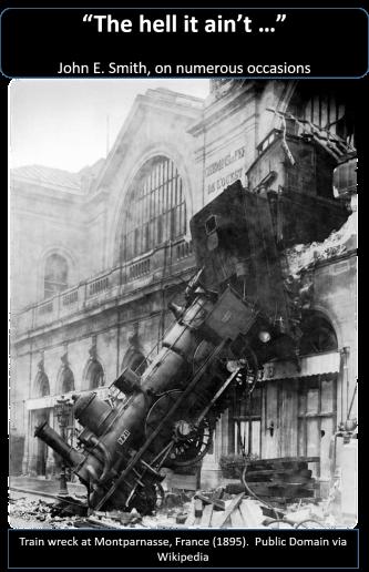 Failure - Train Wreck - Public Domain via WIkipedia