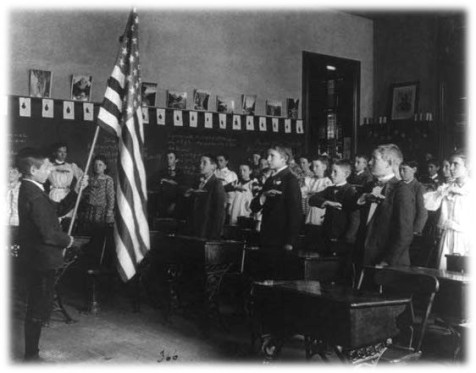 Pledging Allegiance - Wikipedia Public Domain